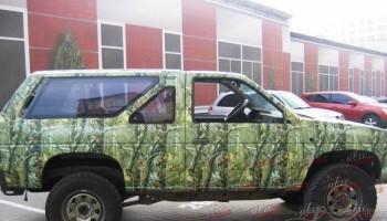 Зеленый камуфляж на авто