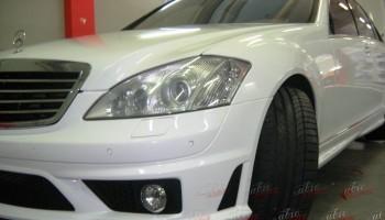 Оклейка авто белой пленкой