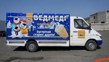 Реклама на авто Ведмедi